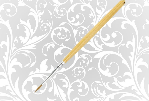 Кисть Колонок НП Сонет круглая длинная ручка пропитанная лаком № 00