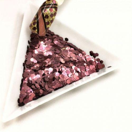 """Конфетти шестигранник 1/12""""(2.0mm)080 B0405(Brazil Deep Copper)"""
