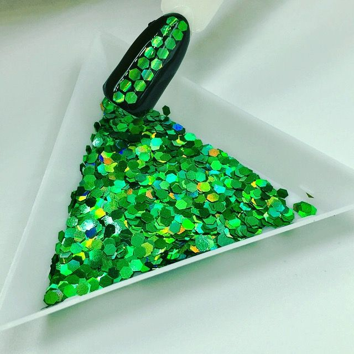 "Конфетти шестигранник 1/12""(2.0mm)080 LB600(Laser Green)"