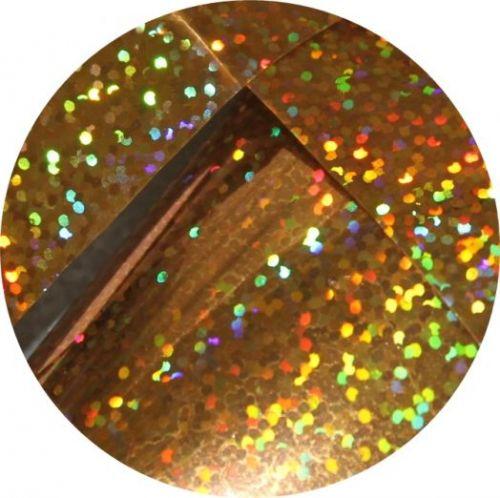 Фольга для литья и кракелюра Royal  (32) золото голографический дождь