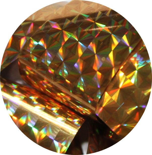Фольга для литья и кракелюра Royal (31) золото голографический квадрат
