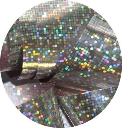 Фольга для литья и кракелюра  Royal (14) серебро голографическая мозаика