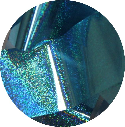 Фольга для литья и кракелюра  Royal (38) голубой голографический мираж