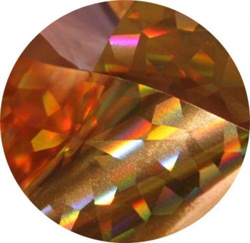 Фольга для литья и кракелюра Royal (46) золотой голографический ромб